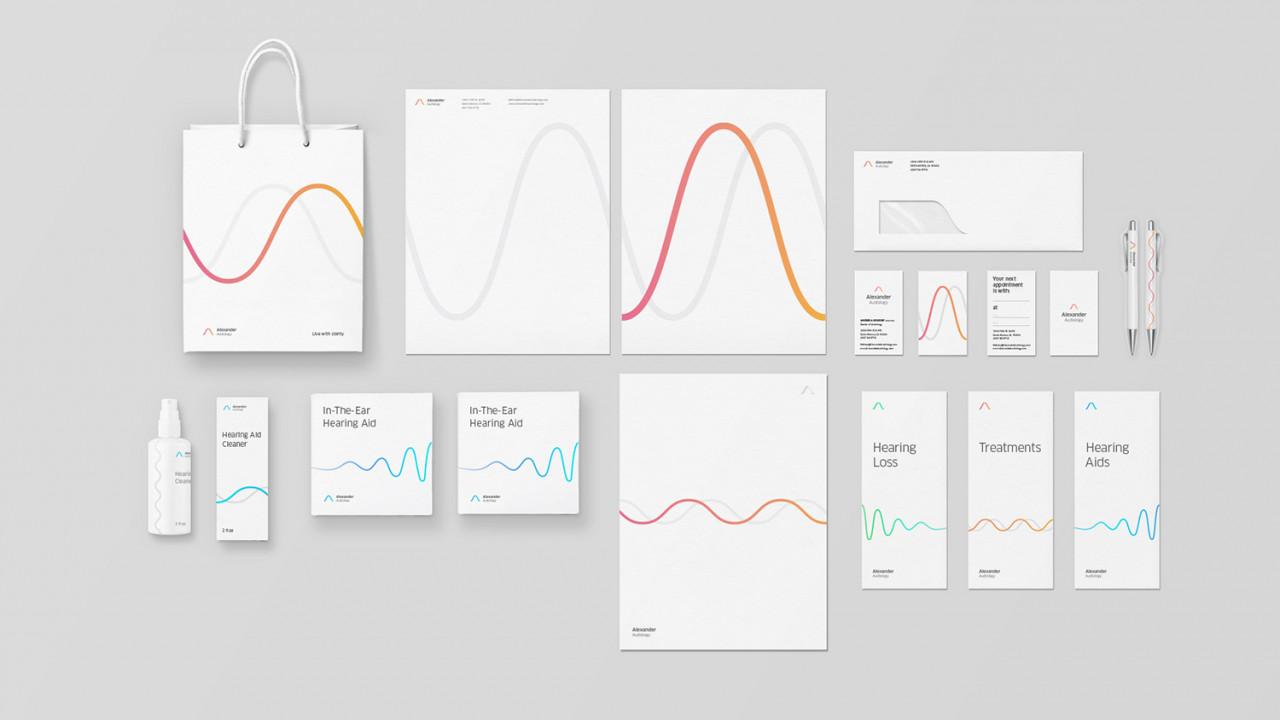 Alexander-Audiology-brand-stationary