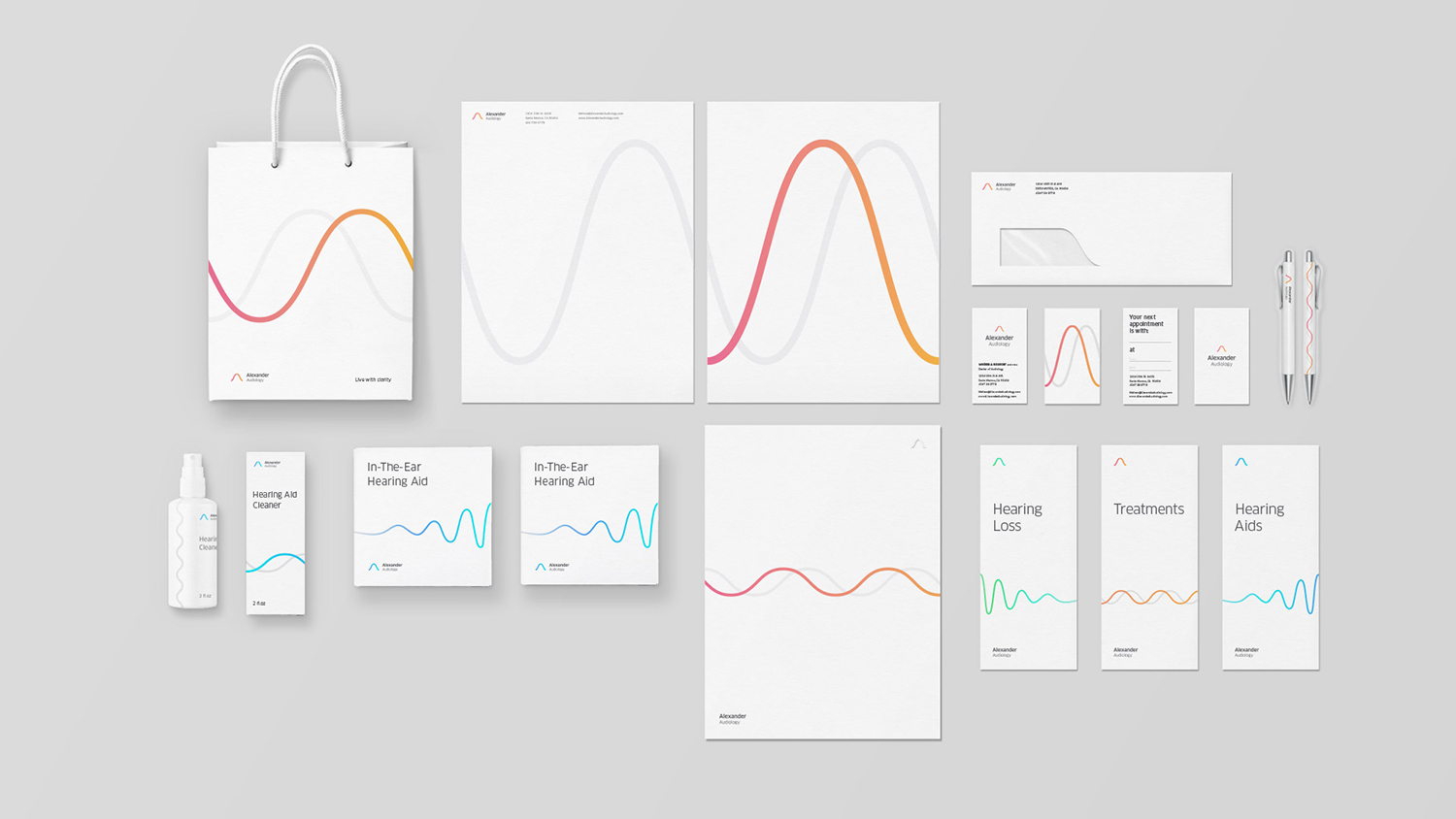 Alexander-Audiology-brand-stationary