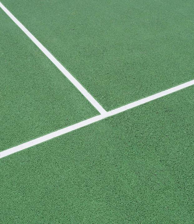 tennis court tram lines