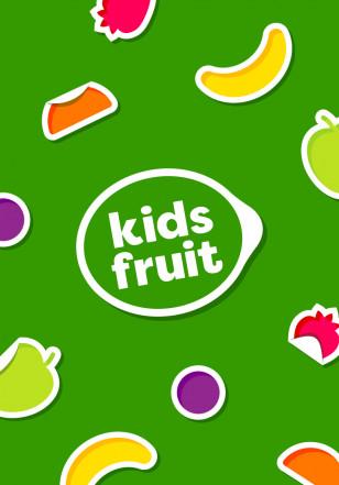 kids Fruit branding stickers