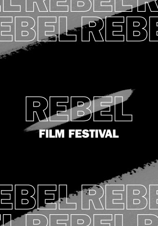 Rebel Film Festival logo and example graphic
