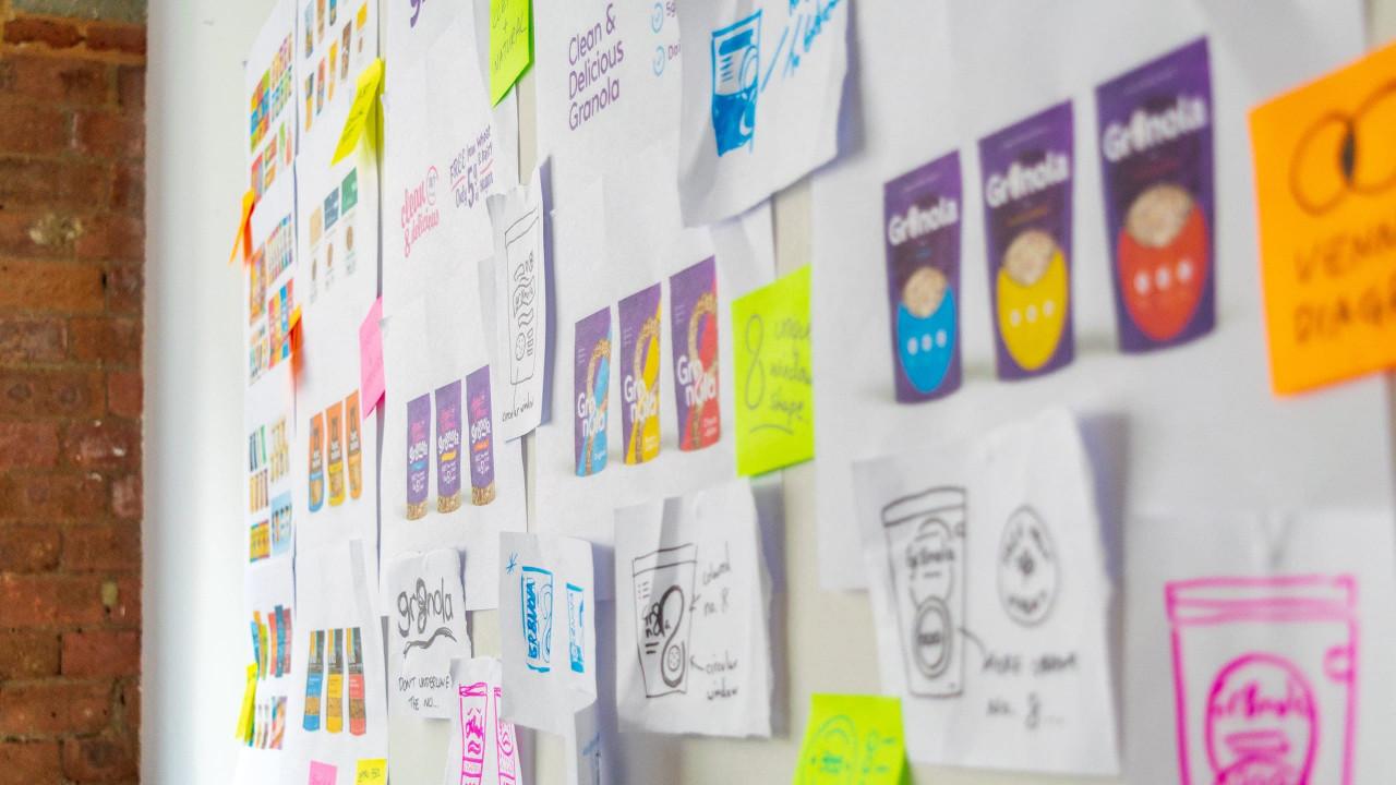 Deuce Studio Office wall brainstorm
